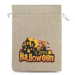 1 uds. Bolsas de halloween (nro.1) de yute, 40 x 55 cm - natural bolsa de yute