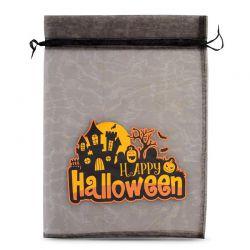 1 uds. Bolsas de halloween (nro.1) de organza 40 x 55 cm - negro Decorativo Bolsas de organza