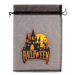 1 uds. Bolsas de halloween (nro.2) de organza 40 x 55 cm - negro Decorativo Bolsas de organza