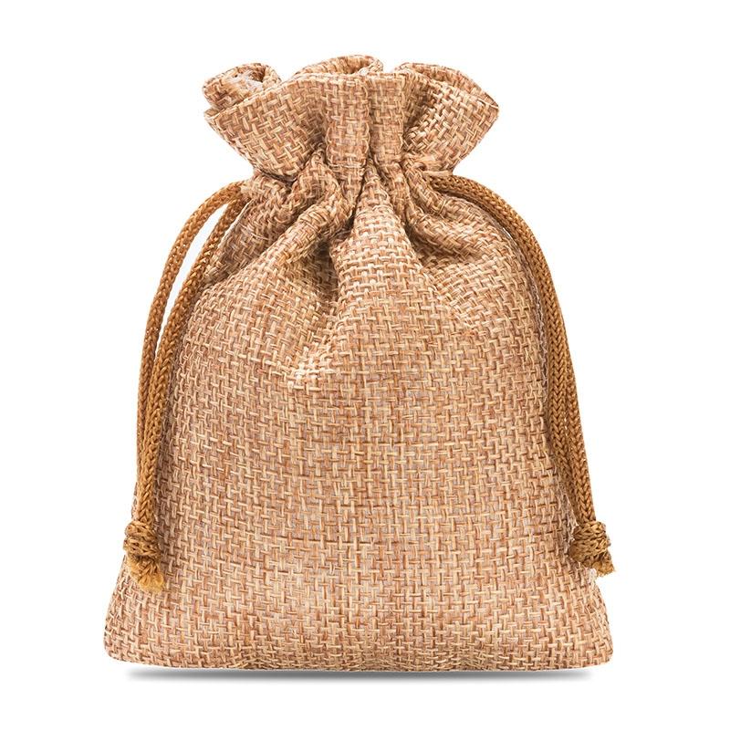 10 uds. Bolsas de yute 9 x 12 cm - marrón claro