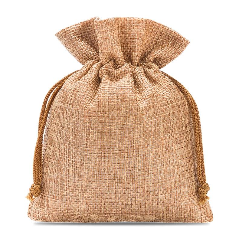 10 uds. Bolsas de yute 13 x 18 cm - marrón claro