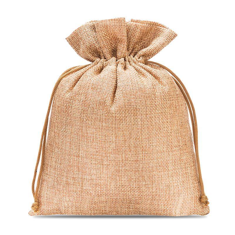 5 uds. Bolsas de yute 18 x 24 cm - marrón claro