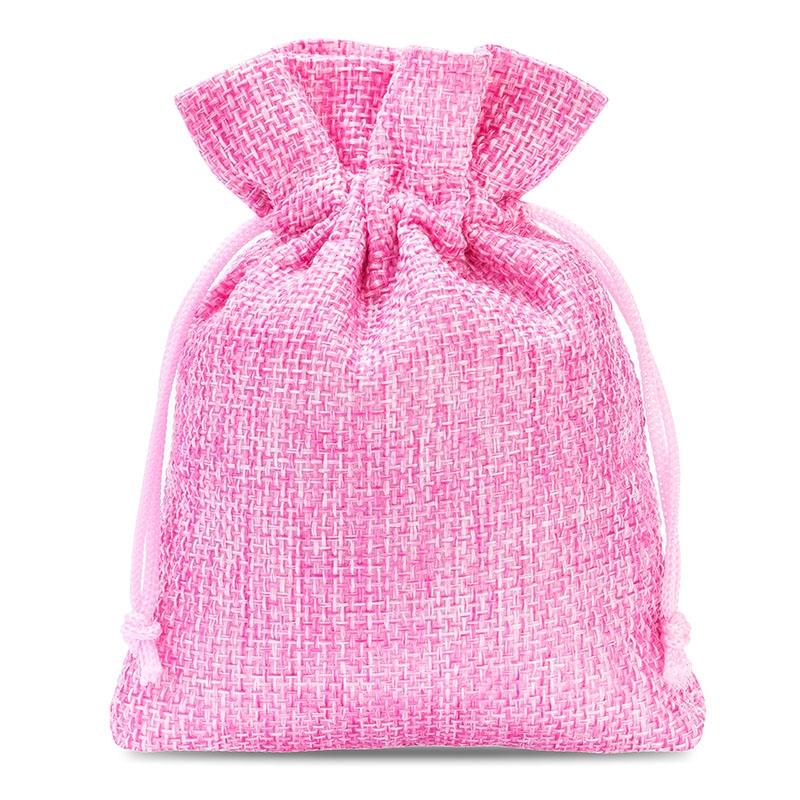 10 uds. Bolsas de yute 8 x 10 cm - rosa claro