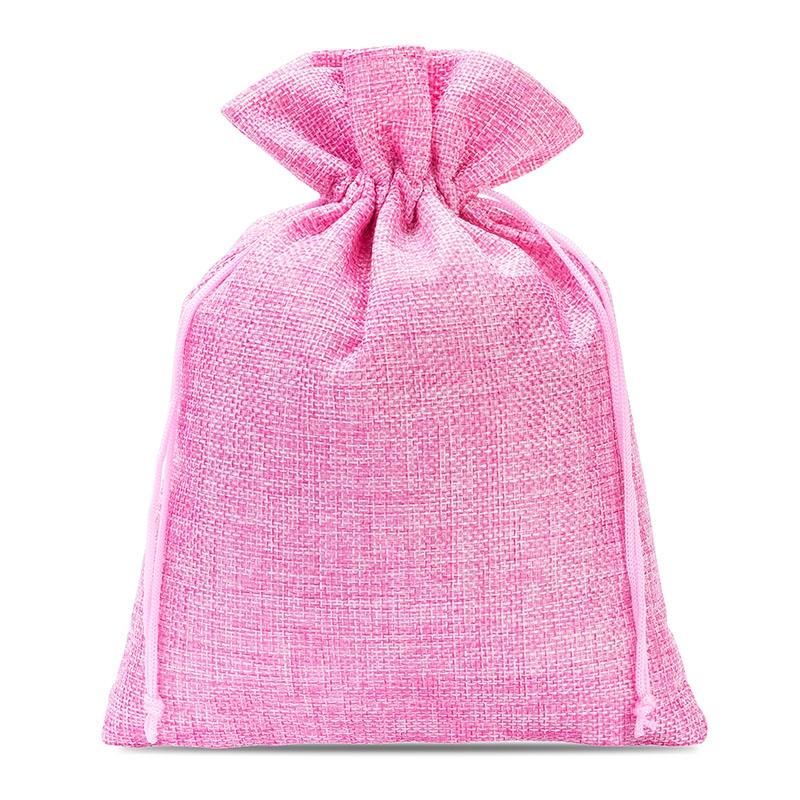 10 uds. Bolsas de yute 15 x 20 cm - rosa claro