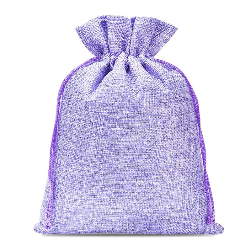 5 uds. Bolsas de yute 18 x 24 cm - violeta claro