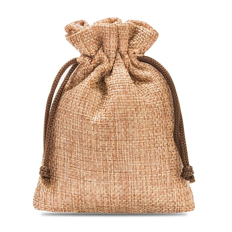 10 uds. Bolsas de yute 8 x 10 cm - marrón claro