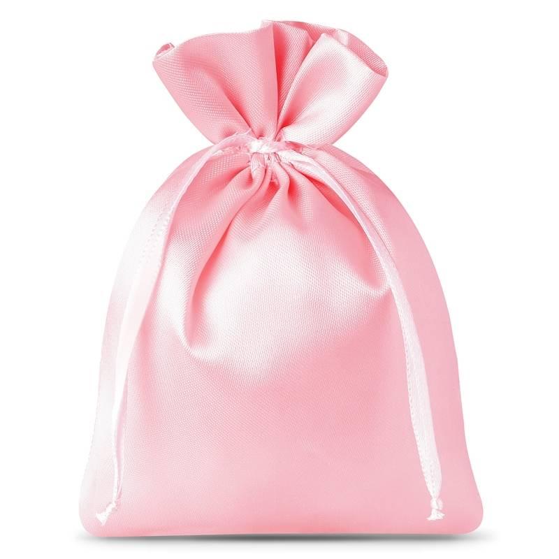 10 uds. Bolsas de satén 6 x 8 cm - rosa claro