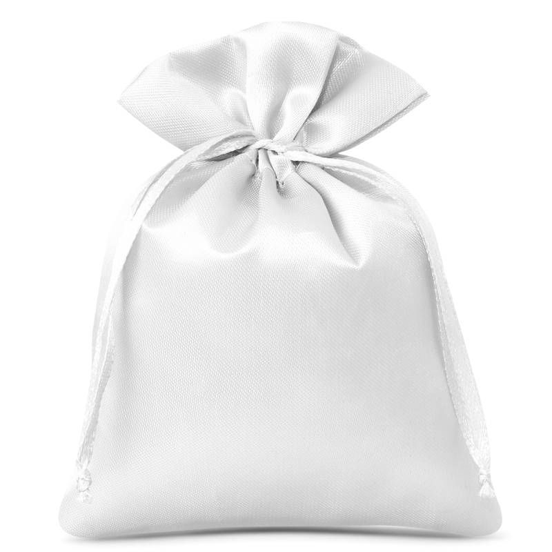 10 uds. Bolsas de satén 6 x 8 cm - blanco