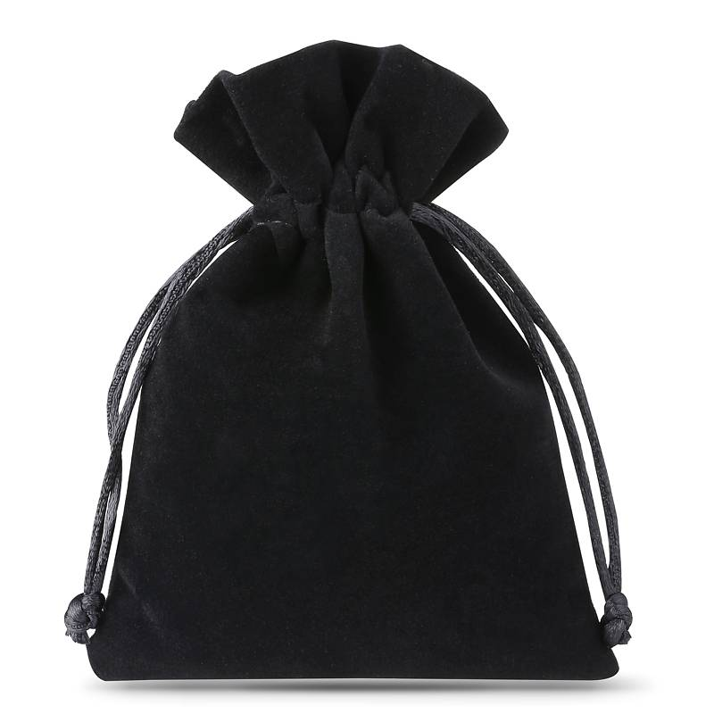 10 uds. Bolsas de terciopelo 6 x 8 cm - negro