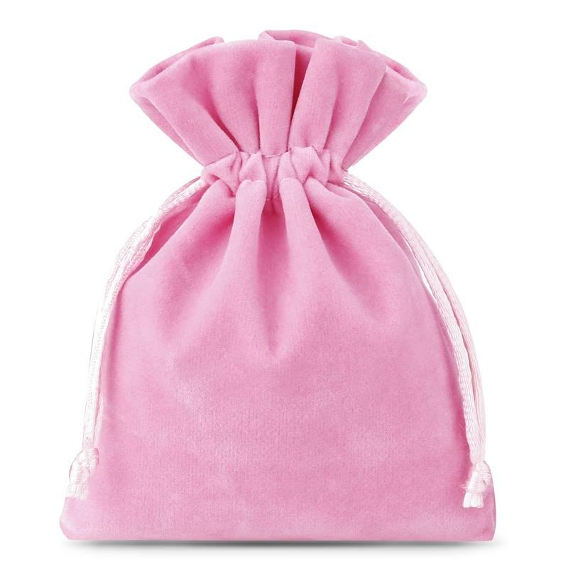 10 uds. Bolsas de terciopelo 6 x 8 cm - rosa claro