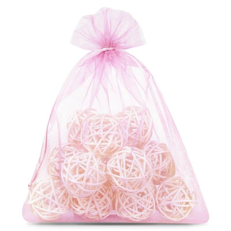 5 uds. Bolsas de organza 40 x 55 cm - rosa claro