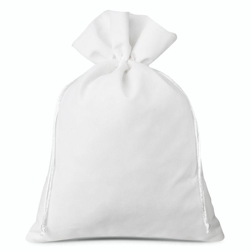 1 uds. Bolsas de terciopelo 30 x 40 cm - blanco