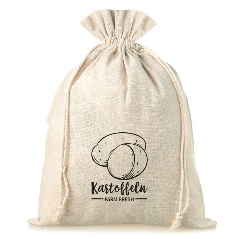 1 uds. Bolsa grande de lino con la impresión 35 x 50 cm - para papas (DE)