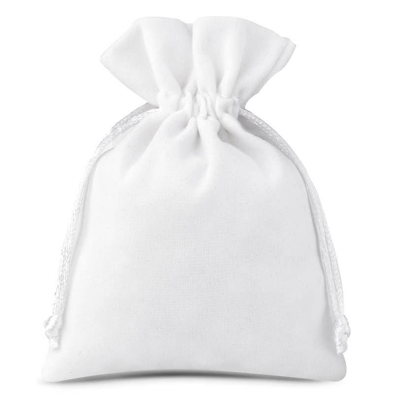 10 uds. Bolsas de terciopelo 9 x 12 cm - blanco