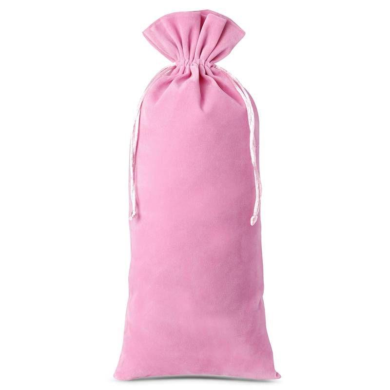 10 uds. Bolsas de terciopelo 11 x 20 cm - rosa claro
