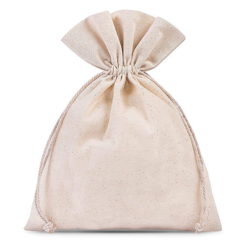 5 uds. Bolsas de algodón 18 x 24 cm - natural