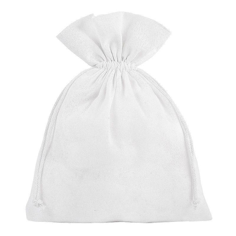 5 uds. Bolsas de algodón 18 x 24 cm - blanco