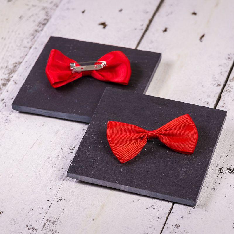10 uds. Lazos de tela 7 x 3 cm - color rojo
