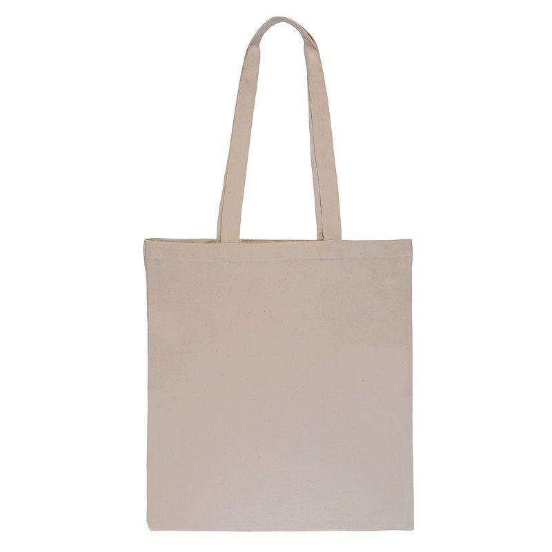 Bolsa de algodón natural - ecru 38 x 42 cm con asas largas