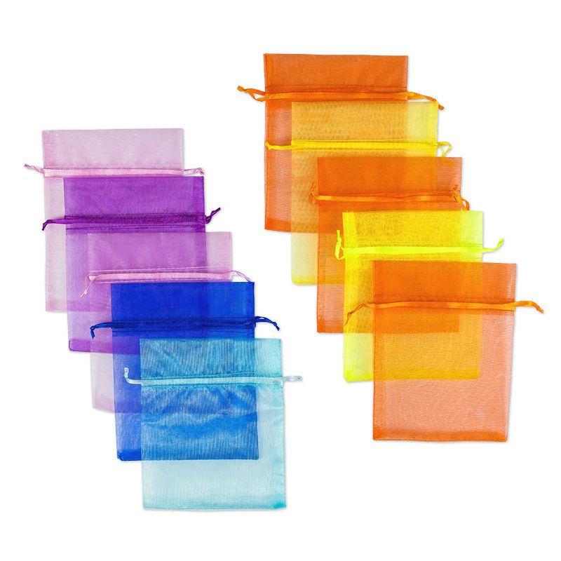 10 uds. Bolsas de organza 12 x 15 cm - mezcla de colores de primavera