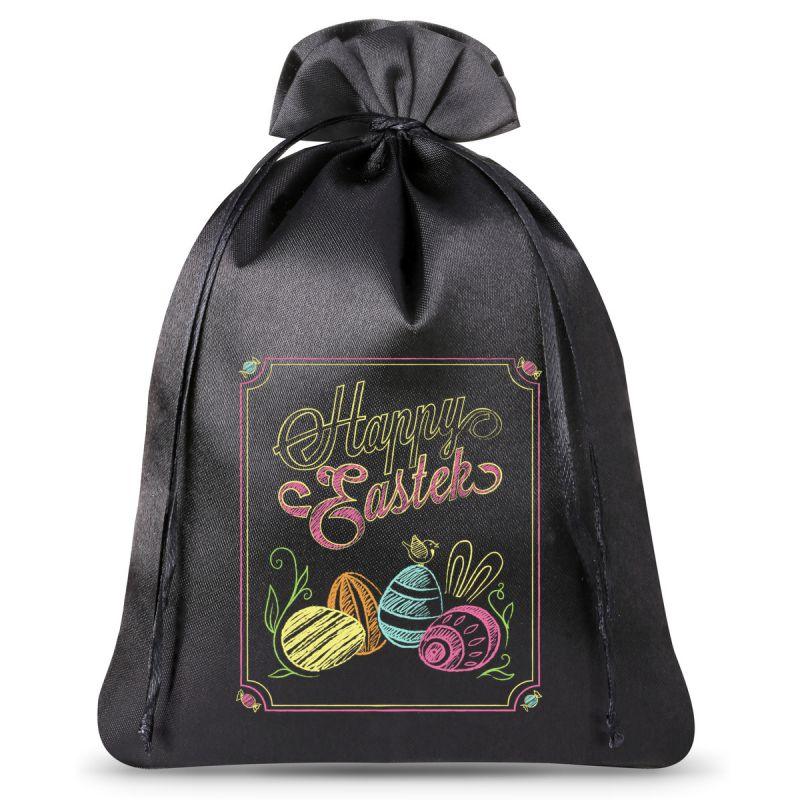 1 ud. Bolsa del satén 26 x 35 cm- Pascua-Huevo de Pascua pintado con tiza