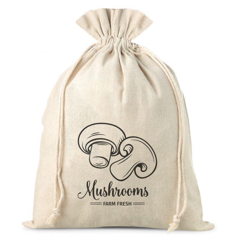 1 uds. Bolsa de lino con la impresión 22 x 30 cm - para setas