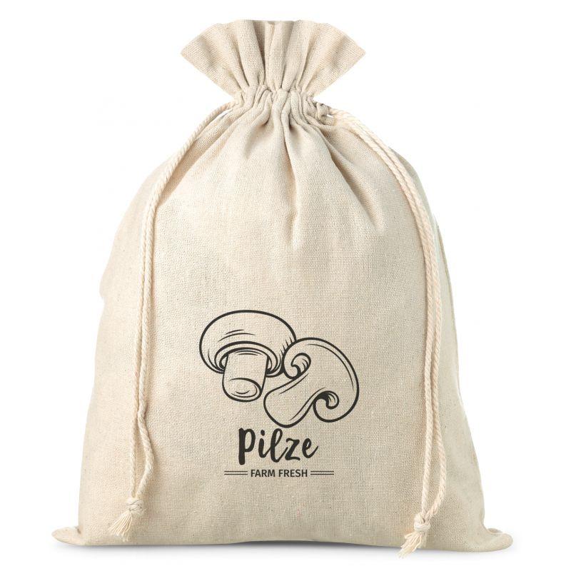 1 uds. Bolsa grande de lino con la impresión 30 x 40 cm - para setas