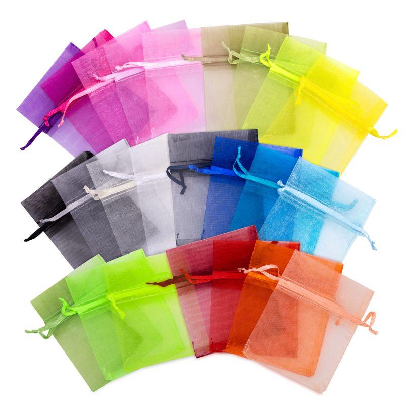 5 uds. Bolsas de organza 40 x 55 cm - mix de colores