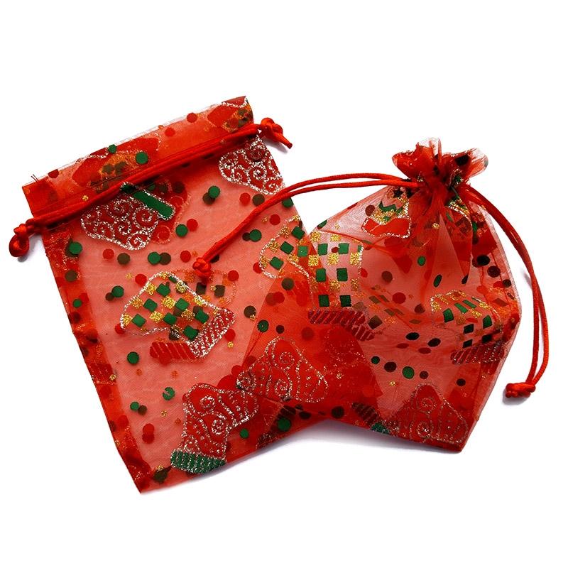 25 uds. Bolsas de organza 12 x 16 cm - Navidad / 5