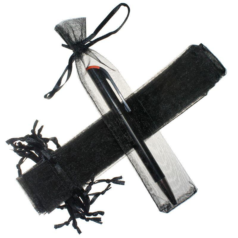 25 uds. Bolsas de organza 3,5 x 19 cm - negro