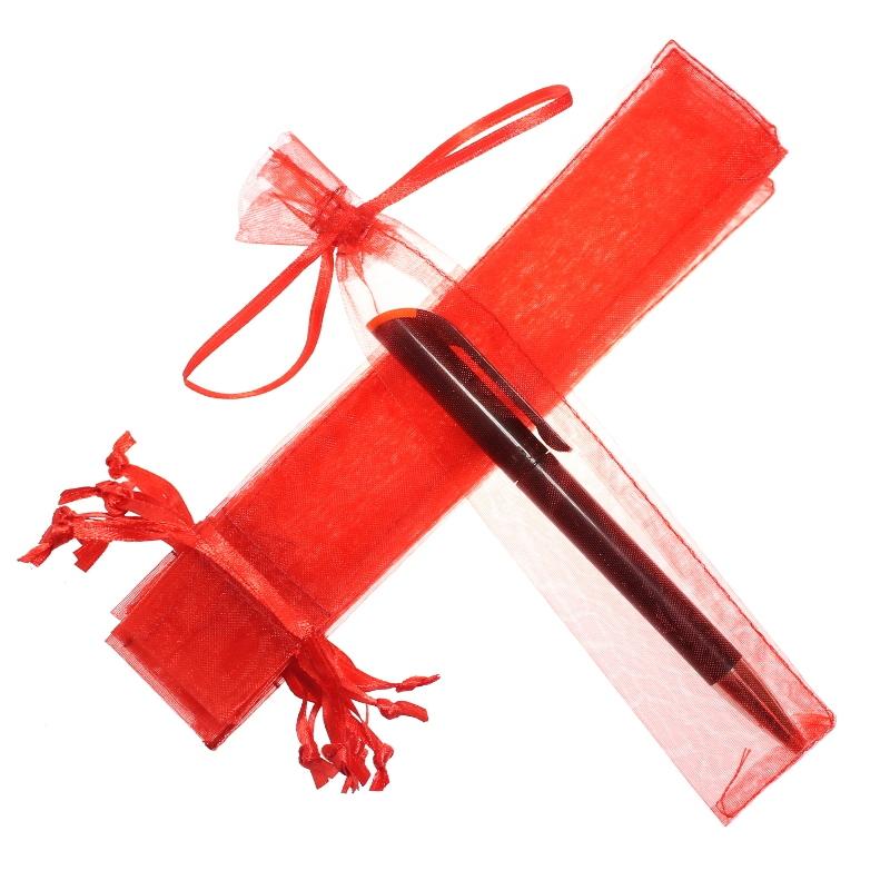 25 uds. Bolsas de organza 3,5 x 19 cm - rojo