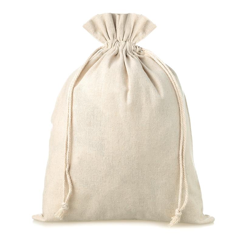 1 uds. Bolsa de lino 30 x 40 cm - natural Bolsas de lino
