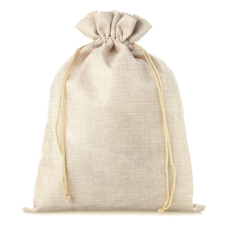 1 uds. Bolsa de yute 26 x 35 cm - natural claro