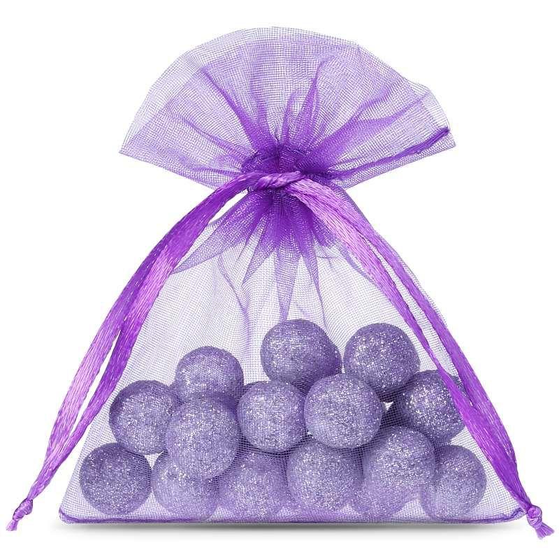25 uds. Bolsas de organza 8 x 10 cm - violeta oscuro