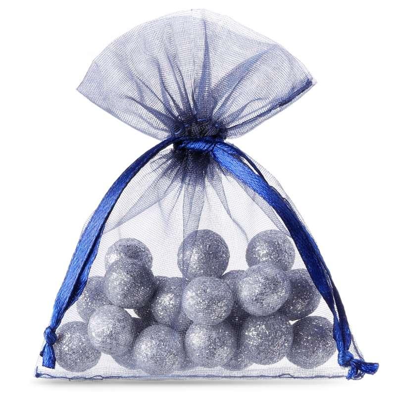 25 uds. Bolsas de organza 8 x 10 cm - azul oscuro Decorativo Bolsas de organza
