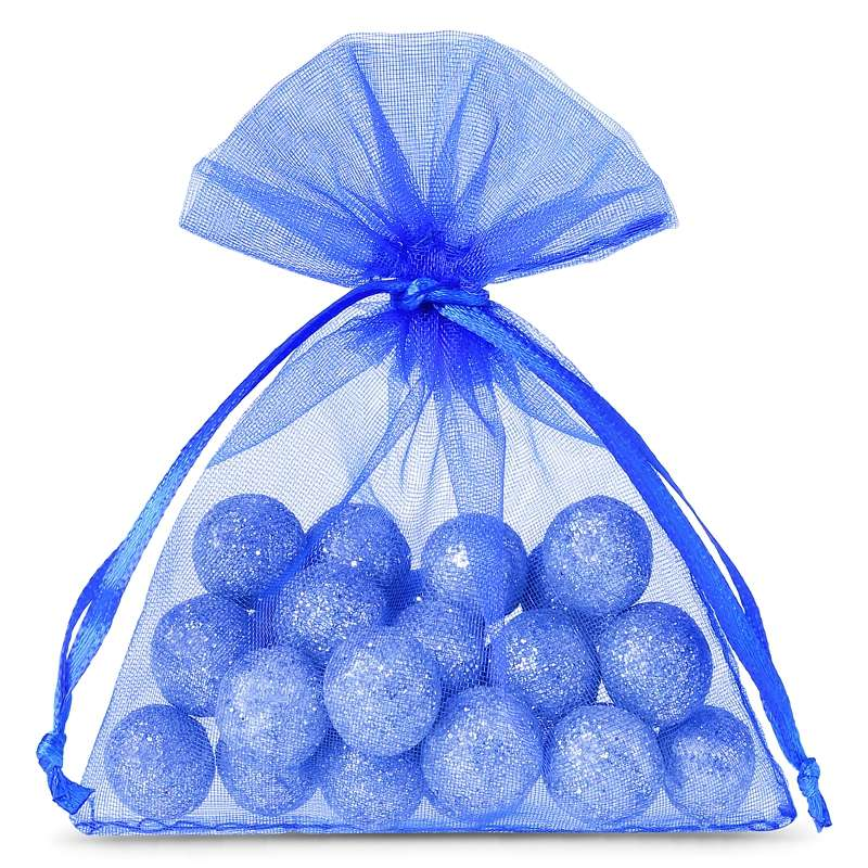 25 uds. Bolsas de organza 7 x 9 cm - azul