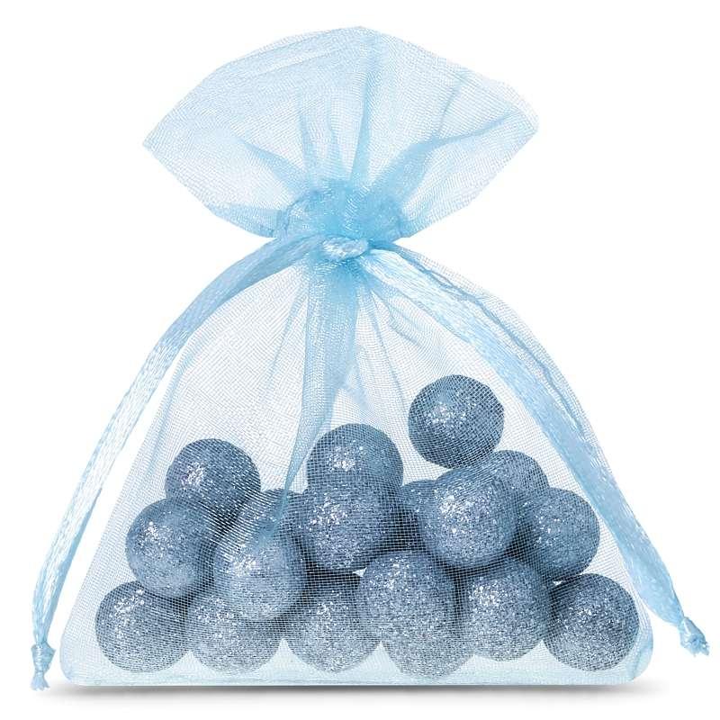 25 uds. Bolsas de organza 6 x 8 cm - azul claro