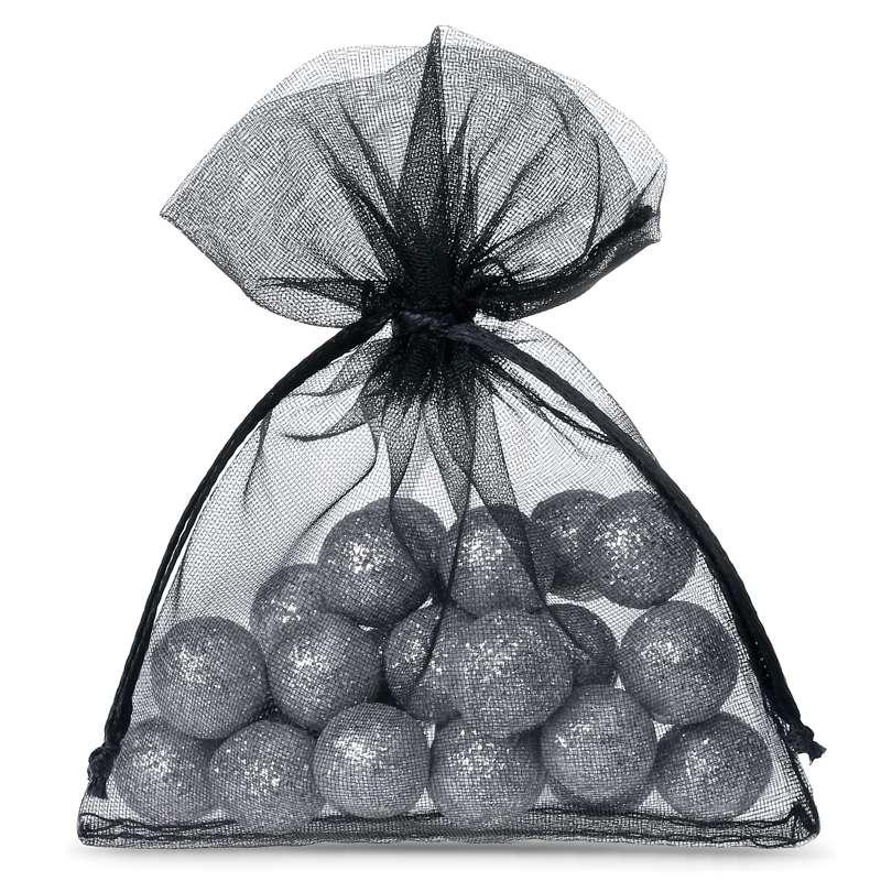 Sacs en organza 10 x 13 cm (25 pièces) - noir Decorativo Bolsas de organza