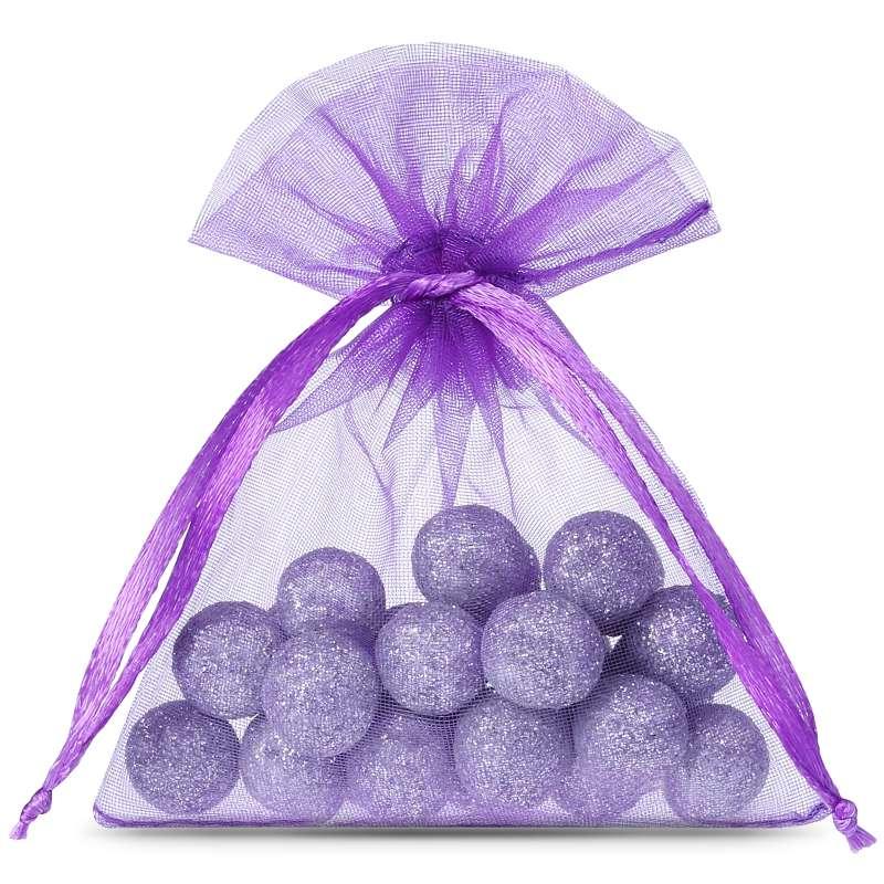 25 uds. Bolsas de organza 11 x 14 cm - violeta oscuro