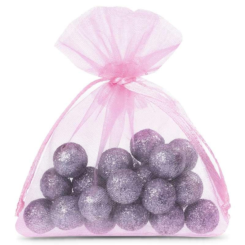 25 uds. Bolsas de organza 10 x 13 cm - rosa claro Decorativo Bolsas de organza