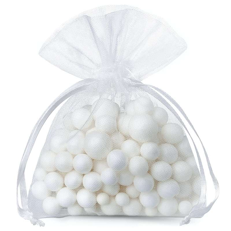 25 uds. Bolsas de organza 9 x 12 cm - blanco