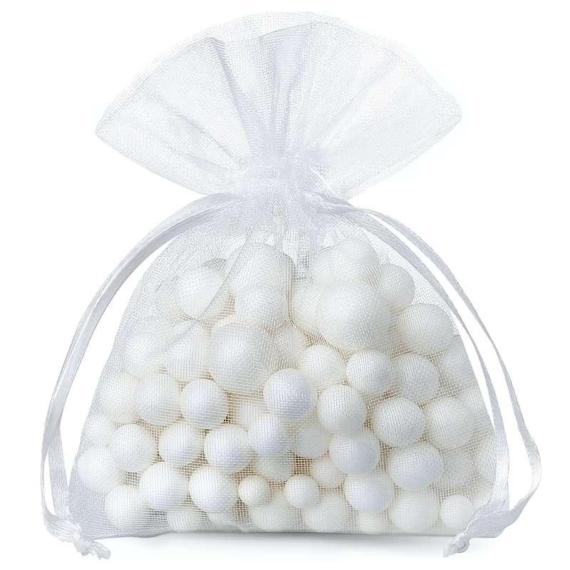 25 uds. Bolsas de organza 6 x 8 cm - blanco
