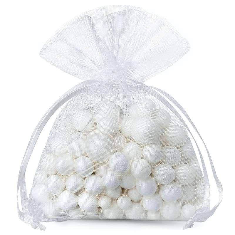 25 uds. Bolsas de organza 5 x 7 cm - blanco