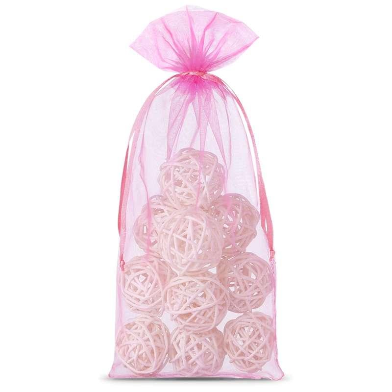 10 uds. Bolsas de organza 13 x 27 cm - rosa