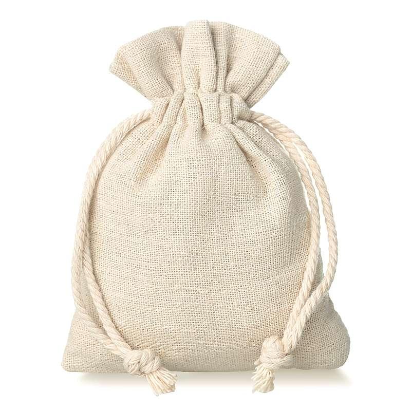 10 uds. Bolsas de lino 9 x 12 cm - natural