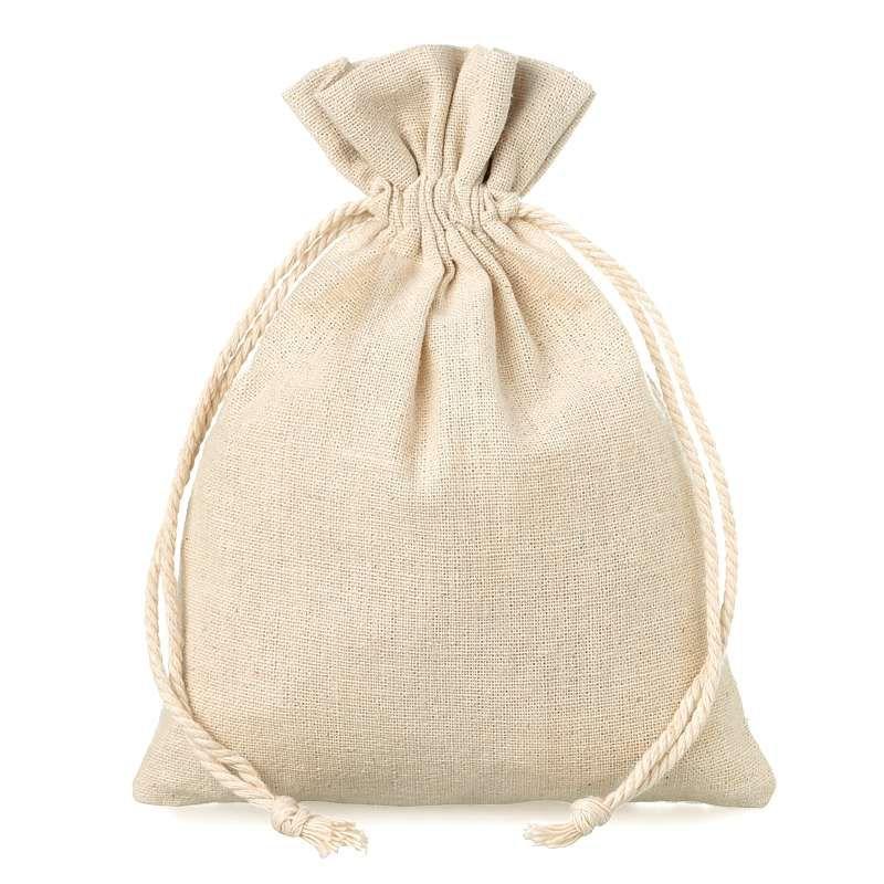 10 uds. Bolsas de lino 12 x 15 cm - natural