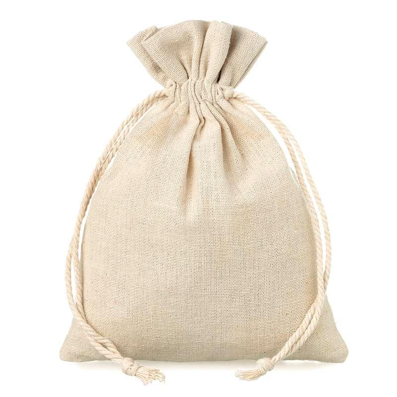 10 uds. Bolsas de lino 12 x 15 cm - natural Bolsas de lino