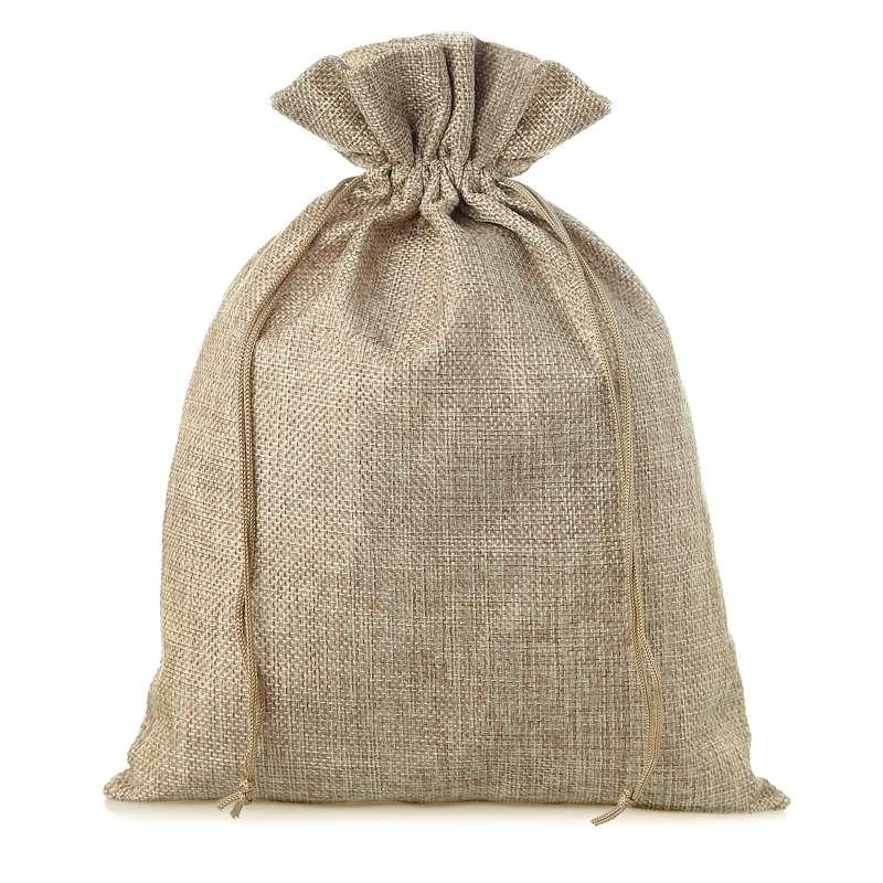 3 uds. Bolsas de yute 22 x 30 cm - natural bolsa de yute