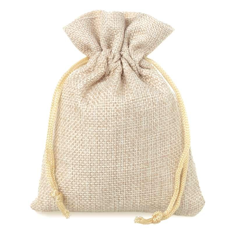 10 uds. Bolsas de yute 9 x 12 cm - natural claro bolsa de yute