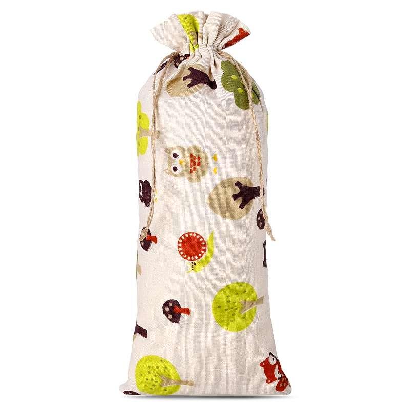1 uds. Bolsa de lino con la impresión 16 x 37 cm - natural / árbol